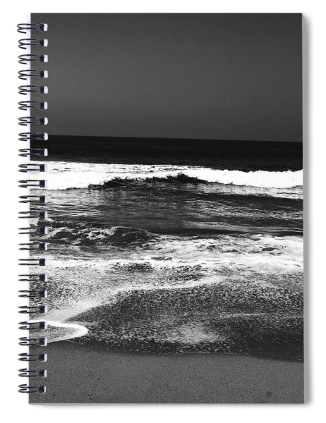 Black And White Beach 7- Art By Linda Woods Spiral Notebook