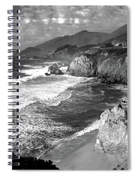 Black And White Big Sur Spiral Notebook