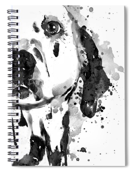 Black And White Half Faced Dalmatian Dog Spiral Notebook