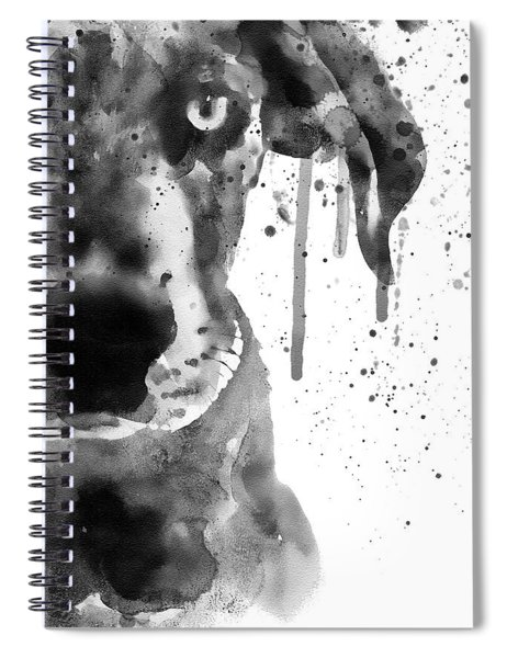 Black And White Half Faced Puppy Spiral Notebook