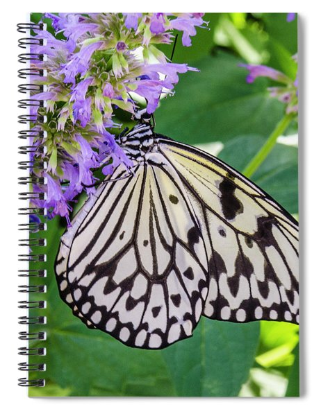 Black And White On Purple Spiral Notebook