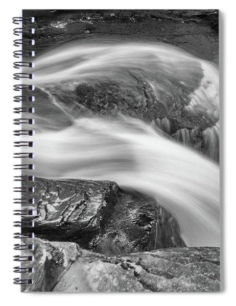 Black And White Rushing Water Spiral Notebook by Louis Dallara