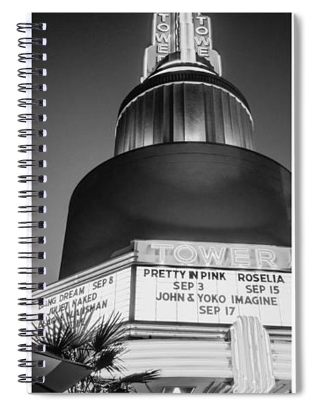Black And White Triptych- Spiral Notebook