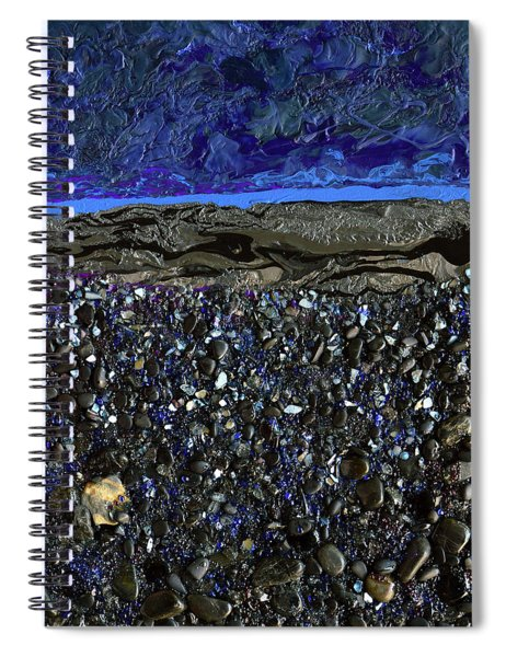 Black As Night Spiral Notebook
