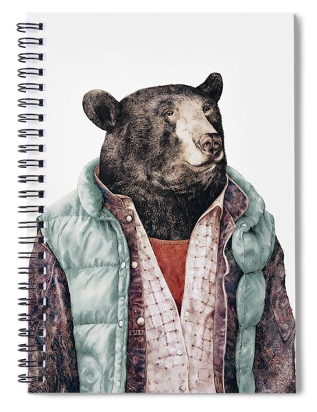 Black Bear Cyan Spiral Notebook by Animal Crew