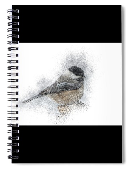 Black-capped Chickadee Perch Spiral Notebook by Patti Deters