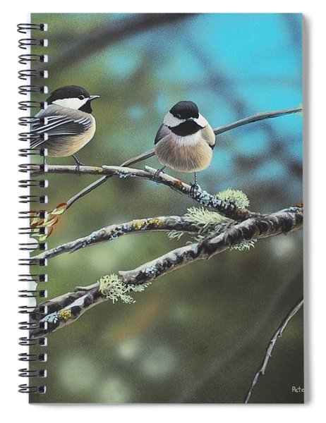 Black Capped Chickadees Spiral Notebook