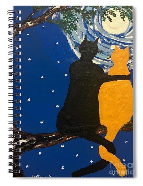 Black Cat In Love Spiral Notebook