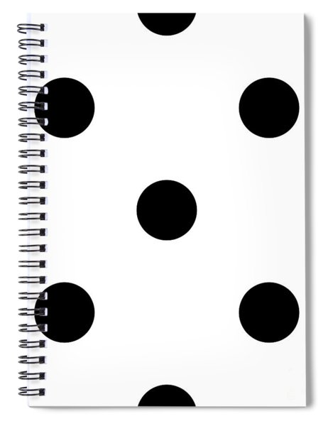 Black Dots On A White Background- Ddh610 Spiral Notebook