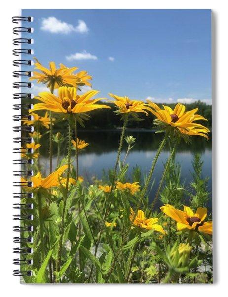 Black-eyed Susan Flowers 1 Spiral Notebook