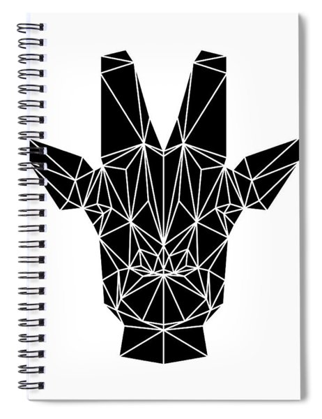 Black Giraffe Spiral Notebook