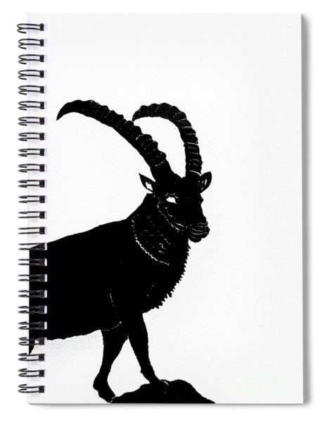Black Ibex Spiral Notebook