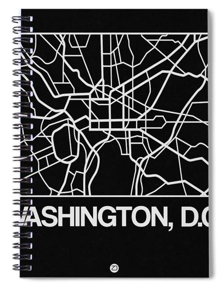 Black Map Of Washington, D.c. Spiral Notebook
