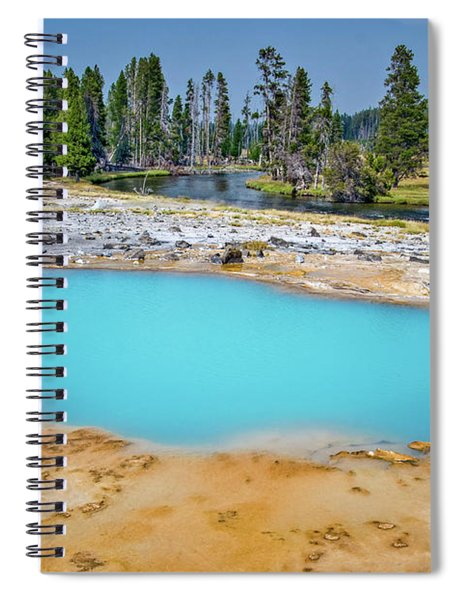 Black Opal Spring In Biscuit Basin Yellowstone Spiral Notebook