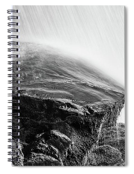 Black Rock Under Dry Falls Spiral Notebook