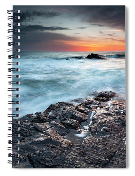 Black Sea Rocks Spiral Notebook