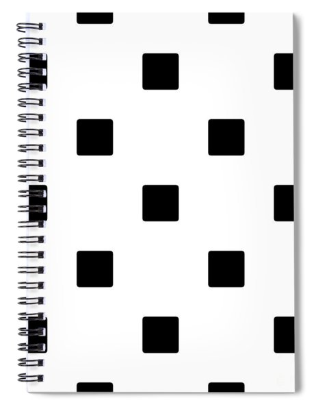 Black Squares On A White Background- Ddh574 Spiral Notebook