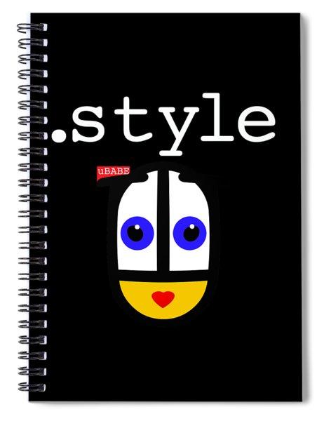 Black Style Ubabe Spiral Notebook