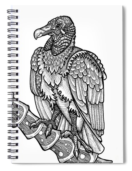 Black Vulture Spiral Notebook