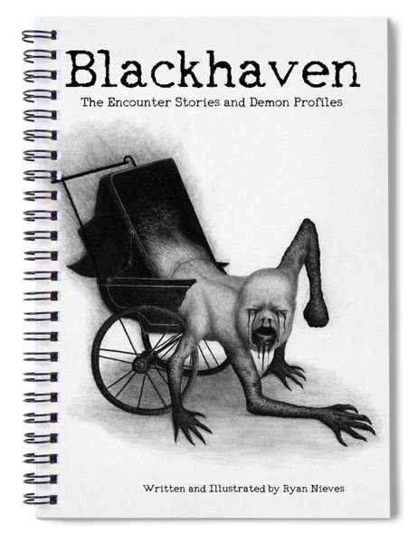 Blackhaven The Encounter Stories And Demon Profiles Bookcover, Shirts, And Other Products Spiral Notebook