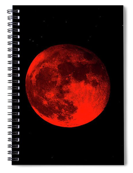 Blood Red Wolf Supermoon Eclipse 873a Spiral Notebook