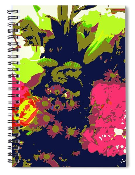 Blooming Abstract Spiral Notebook
