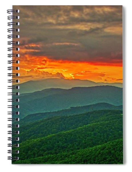 Blowing Rock Sunset Spiral Notebook