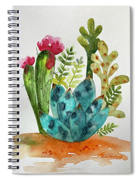 Blue Agave Cactus Spiral Notebook