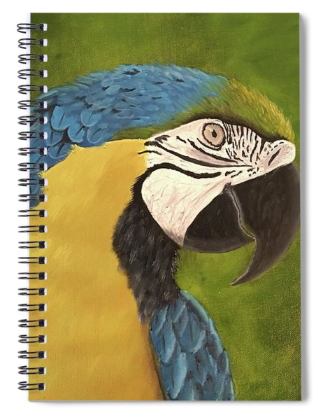 Blue And Gold Mccaw Spiral Notebook