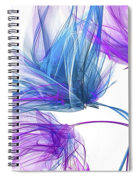 Blue And Purple I - Blue And Purple Abstract Art Spiral Notebook
