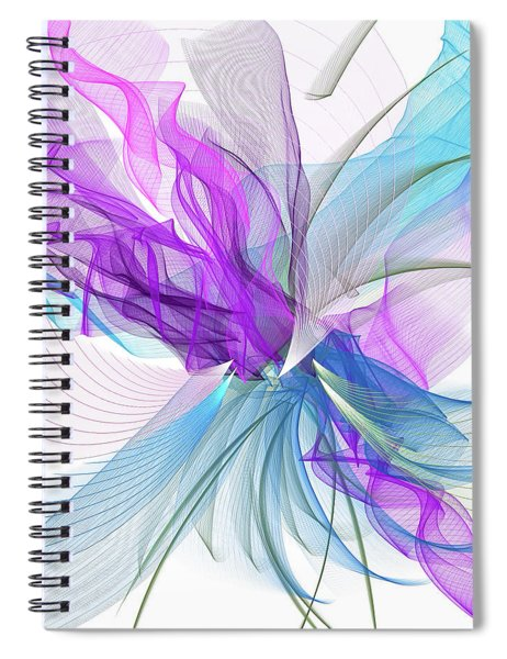 Turquoise And Purple Art Spiral Notebook