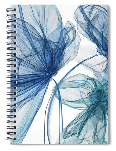 Blue And Turquoise Art Spiral Notebook