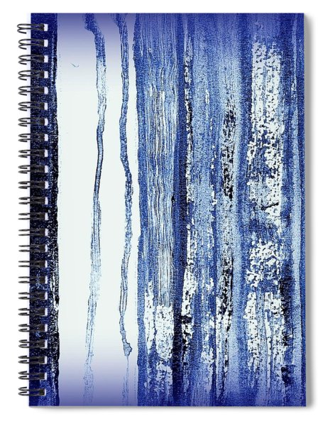 Blue And White Rainy Day Spiral Notebook