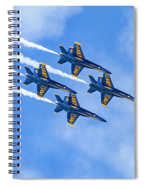 Blue Angels Do Not Blink Spiral Notebook