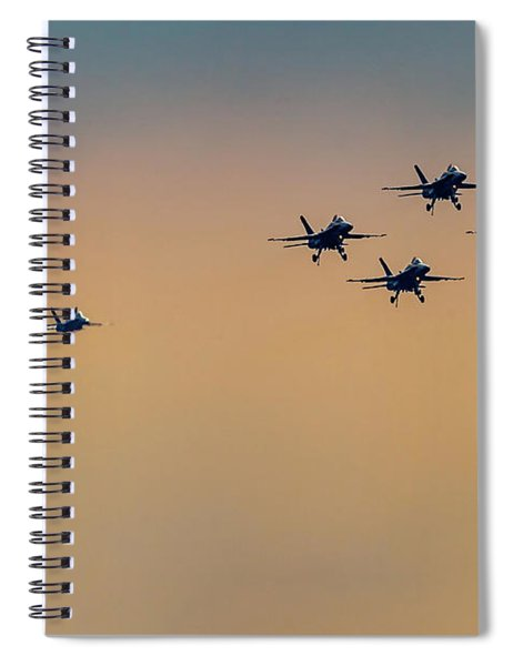 Blue Angels Pass Through Spiral Notebook