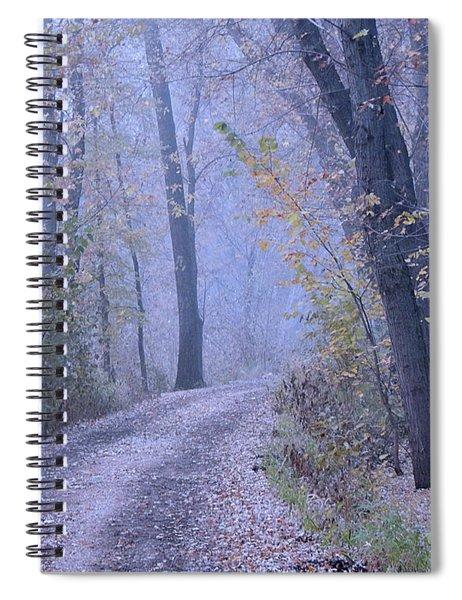 Blue Autumn Spiral Notebook
