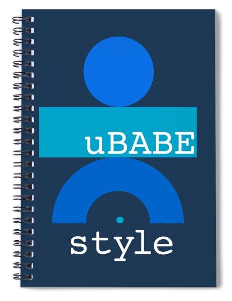 Blue Babe Spiral Notebook