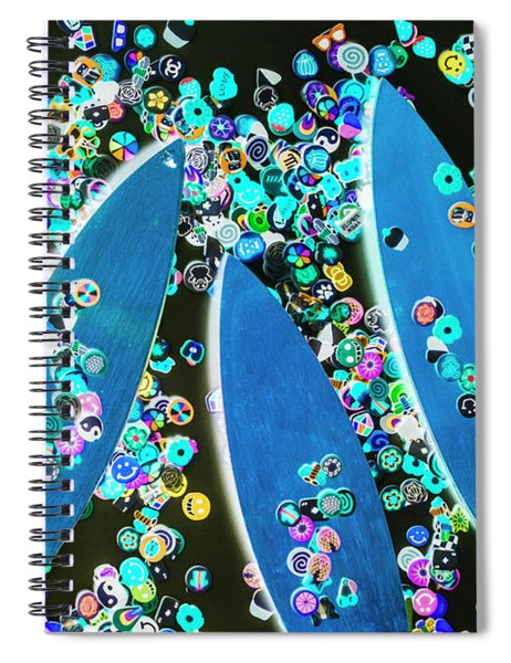 Blue Boarding Bay Spiral Notebook