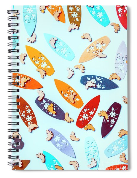 Blue Boarding Beach Spiral Notebook