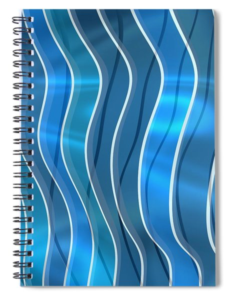 Blue Bright Waves Spiral Notebook