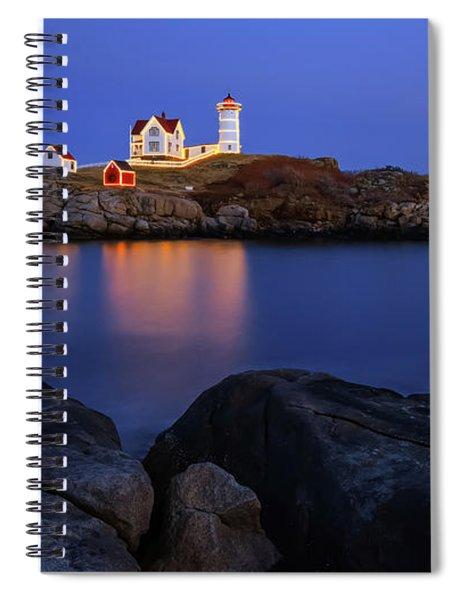 Blue Christmas, Nubble Lighthouse Spiral Notebook