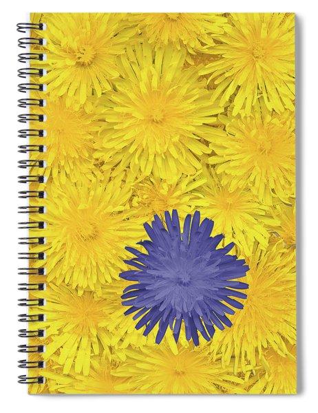 Blue Dandelion Spiral Notebook