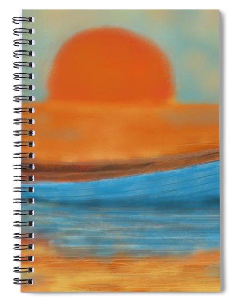 Blue Dinghy Spiral Notebook