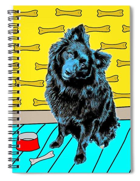 Blue Dog Spiral Notebook by Lou Novick
