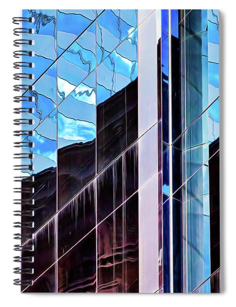 Blue Flags And Monoliths Spiral Notebook