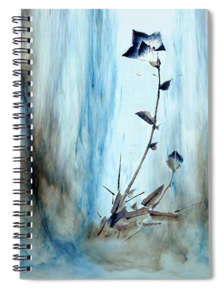 Blue Flower Abstract Spiral Notebook