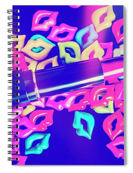 Blue Glam Spiral Notebook