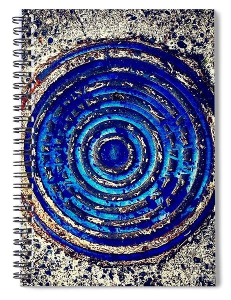 Blue Grate Spiral Notebook