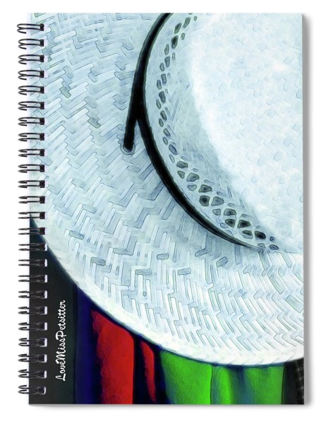 Blue Hat Painting 2 Spiral Notebook