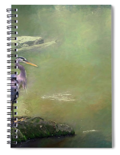 Blue Heron Isolated Spiral Notebook